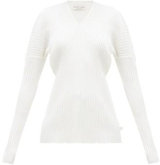 Bottega Veneta V-neck Merino-wool Sweater - Ivory