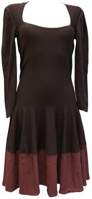 Alexander McQueen \N Burgundy Wool Dresses