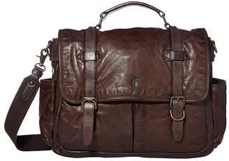 Frye Murray Brief (Dark Brown) Briefcase Bags