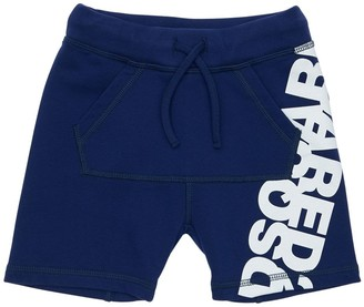 DSQUARED2 Cotton Sweat Shorts W/ Logo Print
