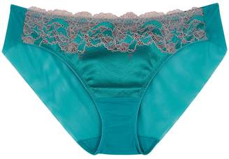 Wacoal Lace Affair Turquoise Lace Briefs