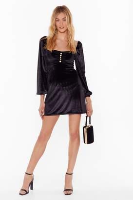 Nasty Gal Womens Soft on the Outside Velvet Mini Dress - black - 4