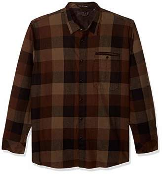 Sean John Men's Long Sleeve Woodland Flannel Woven Shirt