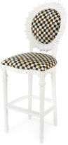 Mackenzie Childs MacKenzie-Childs Sunflower White Outdoor Barstool
