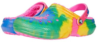 Crocs Classic Lined Tie-Dye Clog (Electric Pink/Multi) Shoes