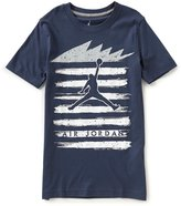 Jordan Little Boys 2T-7 Five Stripes Crew Neck Short-Sleeve Tee
