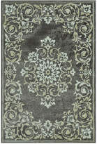"D Style Menagerie MEN185 Grey 4'11"" x 7'5"" Area Rug"