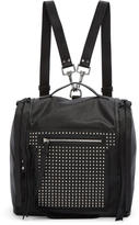 McQ Black Convertible Studded Box Backpack