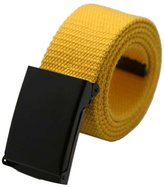 Susenstone Unisex Plain Webbing Men Boys Waist Belt Casual Canvas Waistband