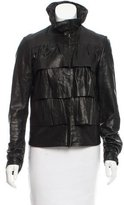Diane von Furstenberg Cupcake Bomber Leather Jacket