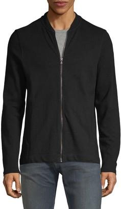 John Varvatos Textured Cotton Bomber Jacket