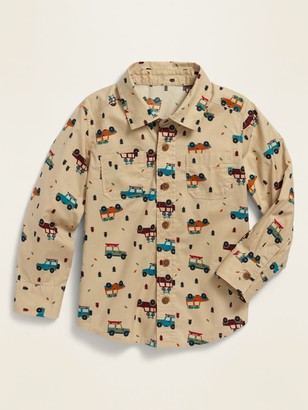 Old Navy Printed Long-Sleeve Shirt for Toddler Boys