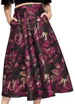 Miss Selfridge Floral Jacquard Midi Skirt