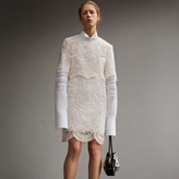 Burberry Layered Macramé Lace Shift Dress