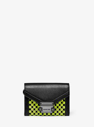 MICHAEL Michael Kors Whitney Small Checkerboard Logo Leather Chain Wallet