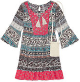 Knitworks Knit Works 3/4 Sleeve Bell Sleeve Skater Dress - Big Kid Girls