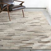 Crate & Barrel Ewing Striped Cowhide Rug