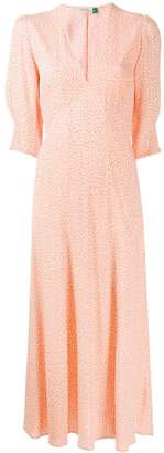 Rixo v-neck floral print dress