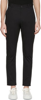 Isabel Benenato Black Cotton 5-pocket Trousers
