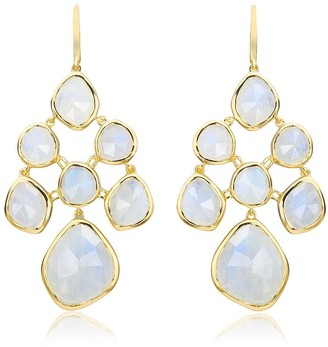 Monica Vinader Siren Chandelier Moonstone earrings