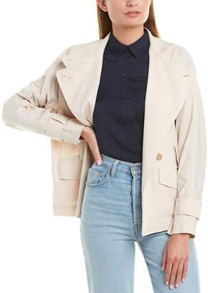 Vince Drapey Linen-Blend Jacket