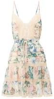 Zimmermann Verity Floral-print Cotton-blend Mini Dress - Womens - Multi