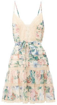 Zimmermann Verity Floral-print Cotton-blend Mini Dress - Womens - Multi