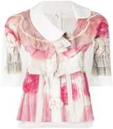 Comme des Garcons floral print ruffled blouse