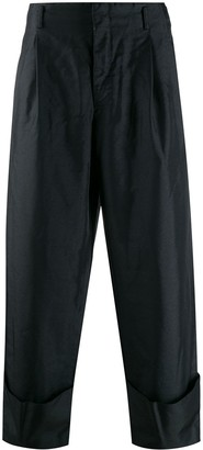 Comme des Garcons Loose Fit Turn Up Trousers