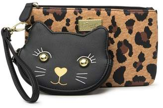 Betsey Johnson LUV BETSEY BY 2 For 1 Wristlet & Detachable Cat Coin Pouch