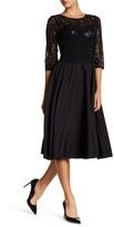Eliza J 3/4 Sleeve Lace Sequin Dress (Petite)