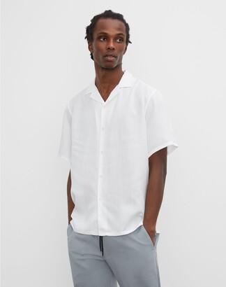 Club Monaco Camp Collar Tencel Shirt