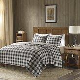 Woolrich Check Oversized Quilt Mini Set Gray Full/Queen