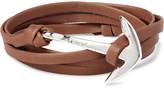 Miansai Anchor Leather Silver-Plated Wrap Bracelet