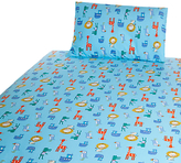John Lewis Noah's Ark Cot/Cotbed Cotton Duvet Cover Set, Blue
