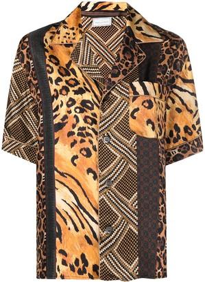 Pierre Louis Mascia Animal-Print Silk Shirt