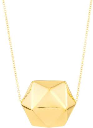 Milani Alberto Millennia 18K Gold Crystal Ball Pendant Necklace