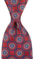 Daniel Cremieux Circled Medallion Traditional Silk Tie