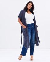 Junarose Long Knit Waistcoat