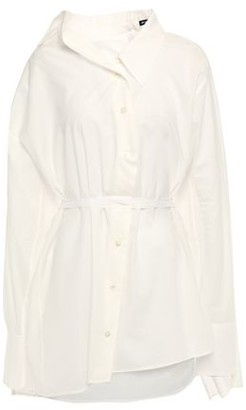 Ann Demeulemeester Asymmetric Draped Cotton Shirt
