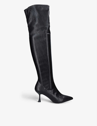 Kurt Geiger Rocco faux-leather over-the-knee boots