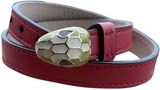 Bvlgari Serpenti Pink Leather Bracelets