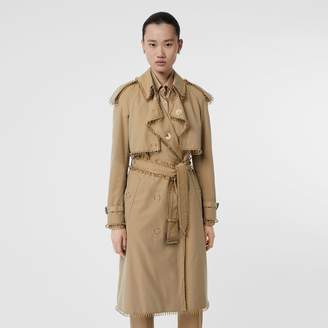 Burberry Ringpierced Cotton Gabardine Trench Coat