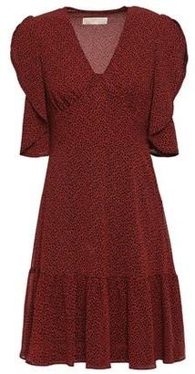 MICHAEL Michael Kors Draped Leopard-print Georgette Mini Dress