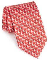 Salvatore Ferragamo Men's Snowflake & Seal Print Silk Tie