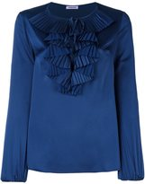 P.A.R.O.S.H. ruffle neck blouse - women - Polyester - L