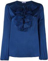 P.A.R.O.S.H. ruffle neck blouse