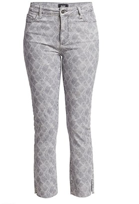 Paige Hoxton High-Rise Skinny Snakeskin-Print Jeans