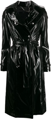 Philipp Plein vinyl trench coat