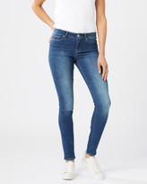 Jeanswest Butt Lifter Skinny Jeans Mid Sapphire